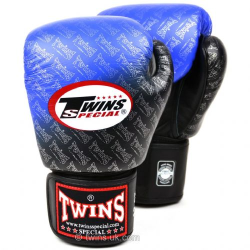 Twins Black/Blue Fade Boxing Gloves